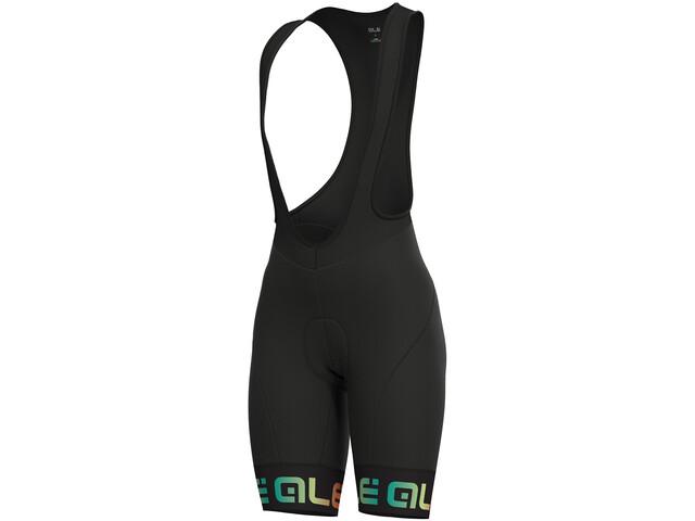 Alé Cycling Solid Mirror Bib Shorts Dam black-multicolor